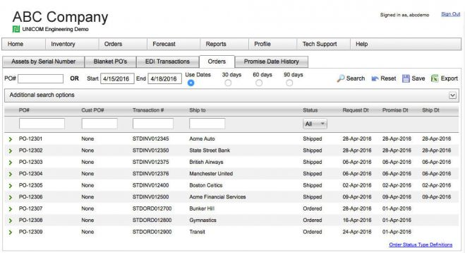 Image - UNICOM Engineering Order and Shipment Tracking Screenshot.jpg
